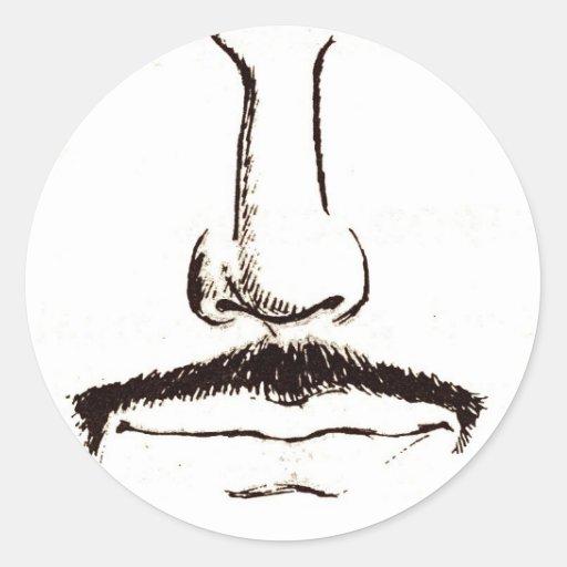 Mustache Vintage Surrealist Sticker