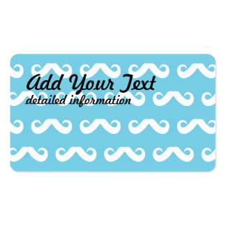 Mustache White Blue Pack Of Standard Business Cards