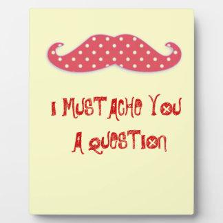 Mustache You a Question Plaque
