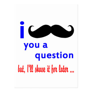 Mustache You a Question QPC Template Post Cards