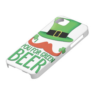 mustache you for green beer ginger mustache clover iPhone 5 case