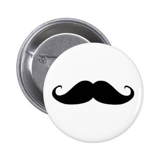 Mustache You Why? 6 Cm Round Badge