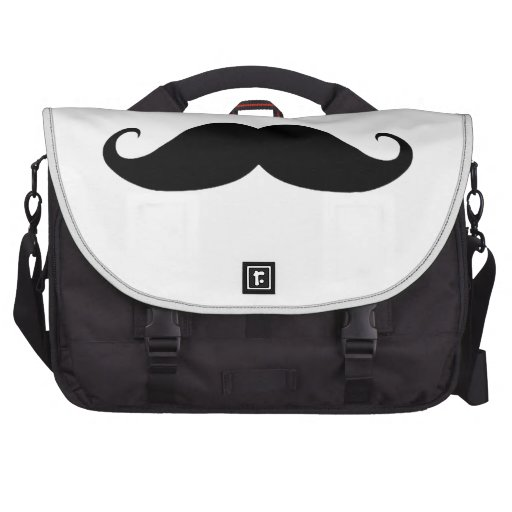 Mustache You Why? Laptop Bags