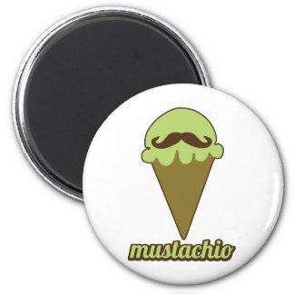 Mustachio 6 Cm Round Magnet