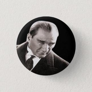 Mustafa Kemal Ataturk 3 Cm Round Badge