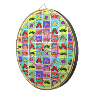 Mustahce pattern funny colorful dartboards