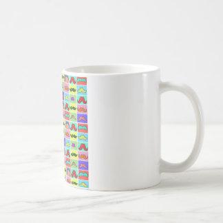 Mustahce pattern funny colorful coffee mug