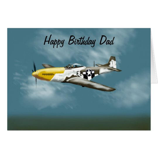 Mustang Birthday Card