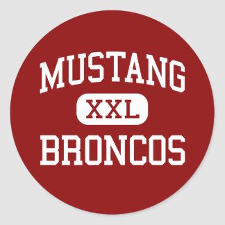 Mustang - Broncos - High School - Mustang Oklahoma Classic Round Sticker
