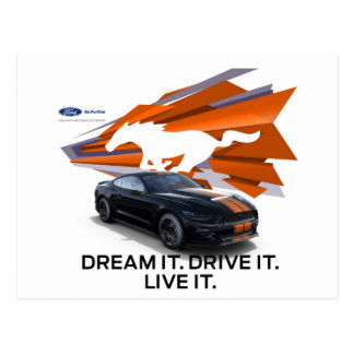 Mustang Customizer Postcard