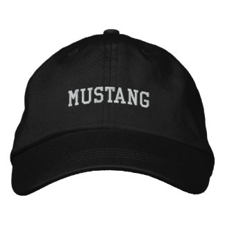 MUSTANG EMBROIDERED HAT
