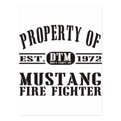Mustang Fire Fighter Post Card