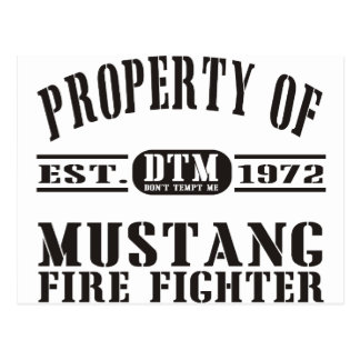 Mustang Fire Fighter Postcard