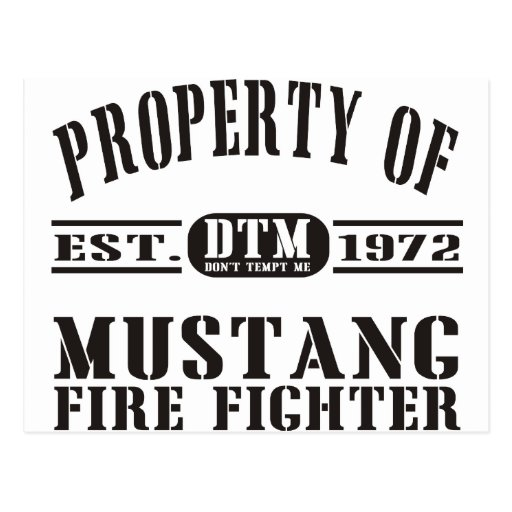 Mustang Fire Fighter Postcards