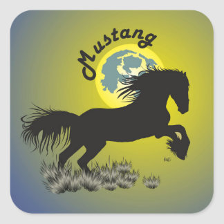 Mustang for horse lover sticker