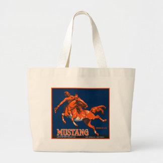 Mustang Fruit Crate Label Tote Bag