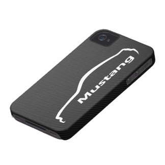 Mustang GT Coupe White Silhouette Logo iPhone 4 Case-Mate Case