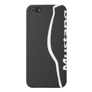 Mustang GT Coupe White Silhouette Logo iPhone 5/5S Covers