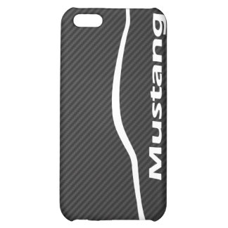 Mustang GT Coupe White Silhouette Logo iPhone 5C Cover