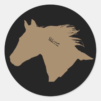 Mustang Horse Head Sticker