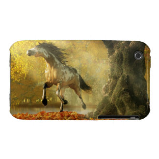 Mustang in Autumn iPhone 3 Cases