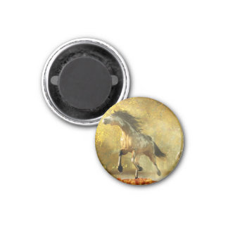 Mustang in Autumn Refrigerator Magnets