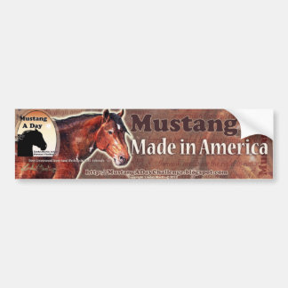 Mustang: Made in America ~ Davy Greasewood Bumper Sticker