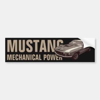 Mustang mechanical power bumper sticker