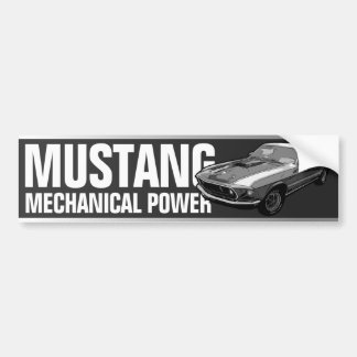 Mustang mechanical power bumper sticker