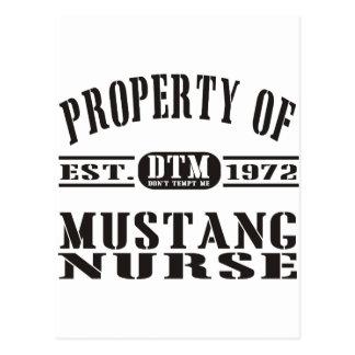 Mustang Nurse Postcard