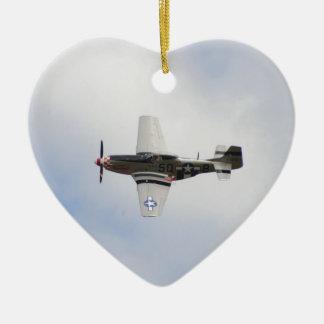 Mustang P51 Ceramic Heart Decoration
