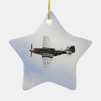 Mustang P51 Christmas Ornament
