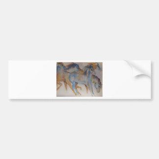 Mustang Portrait Bumper Sticker