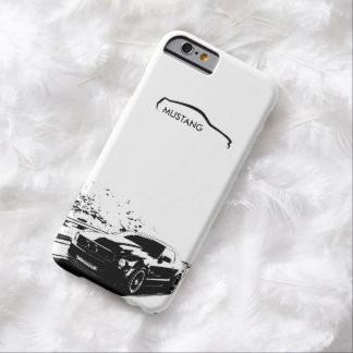 "Mustang Rolling Shot - ""add your own text"" Barely There iPhone 6 Case"