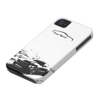 "Mustang Rolling Shot - ""add your own text"" iPhone 4 Case"