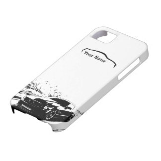 "Mustang Rolling Shot - ""add your own text"" iPhone 5 Cover"