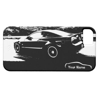 "Mustang Rolling Shot - ""add your own text"" iPhone 5 Covers"
