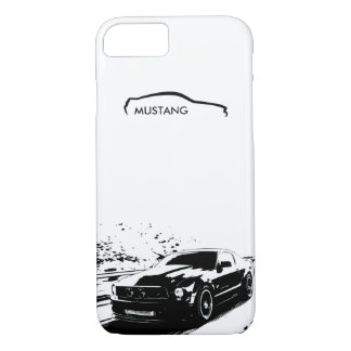 "Mustang Rolling Shot - ""add your own text"" iPhone 7 Case"