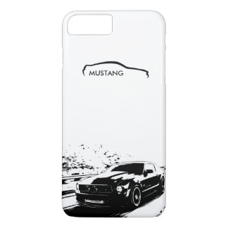 "Mustang Rolling Shot - ""add your own text"" iPhone 8 Plus/7 Plus Case"