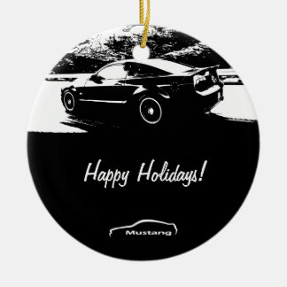 Mustang Rolling shot Christmas Ornaments