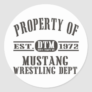 Mustang Wresting! Stickers