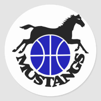Mustangs Basketball Stickers