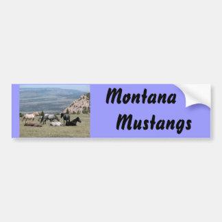 Mustangs Car Bumper Sticker