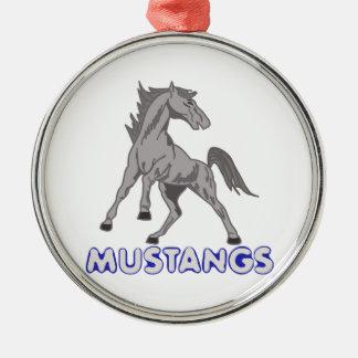Mustangs Mascot Christmas Ornament