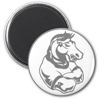 Mustangs Sports Graphic 6 Cm Round Magnet