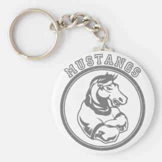 Mustangs Sports Graphic Basic Round Button Key Ring