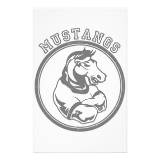 Mustangs Sports Graphic Customized Stationery