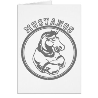 Mustangs Sports Graphic Greeting Card