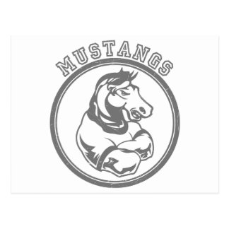 Mustangs Sports Graphic Postcard