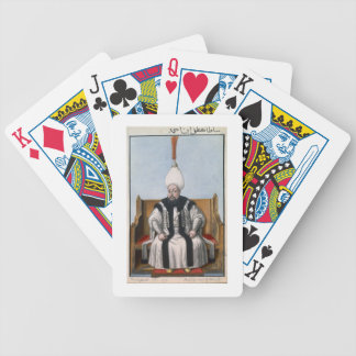 Mustapha III (1717-74) Sultan 1757-74, from 'A Ser Bicycle Playing Cards